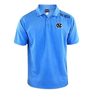 North Carolina Tar Heels Mens Carolina Blue Fashion Solid Polo by Genuine Stuff