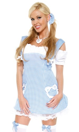 Forplay Women's Kansas Girl Adult Sized Costumes, Blue, Small/Medium