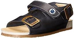 Naturino \'1407\' Leather Sandal Sandal (Toddler), Navy, 19 EU (3-3.5 M US Toddler)