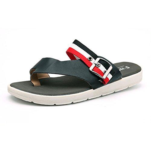 pantoufles Homme/sandales d'été/Pantoufles hommes New/Version coréenne de la chaussure de pincement/Étudiants sandales occasionnels