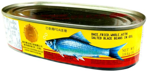Eagle Coin WHOLE FRIED DACE with SALTED BLACK BEANS IN OIL 6.5oz (2 Pack) (Chinese Fish compare prices)