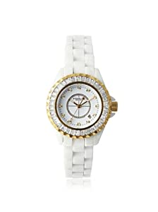 Stuhrling Original Women's 530S2.1113EP3 Glamour III White Ceramic Watch