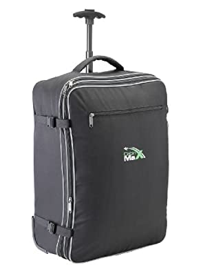 Cabin Max Berlin - Lightweight Max allowance expandable carry on trolley suitcase. 55 x 40 x 20 cm expandable to 55 x 40 x 25 cm 1.8kg 55 litres