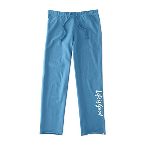 Life is good Fleece Lounge Pants Lig Painted Pants, Denim Blue, Large (Life Is Good Women Sweatpants compare prices)