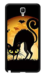 "Humor Gang Black Cat Eyes Printed Designer Mobile Back Cover For ""Samsung Galaxy Note 3"" (3D, Glossy, Premium Quality Snap On Case)"