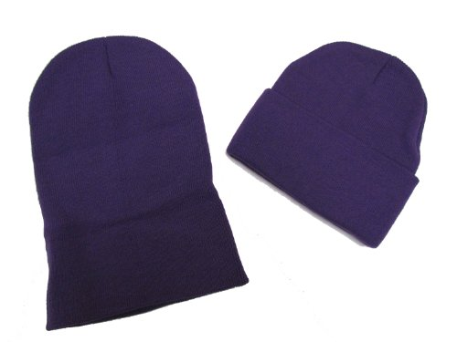 Black Friday/ Cyber Monday Deal! 2 Pack Knit Beanies / Purple / Great Price!