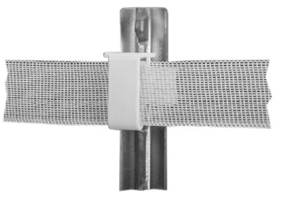Dare Products 2334-25W Electric Fence Insulator, Studded T-Post, White - Quantity 10