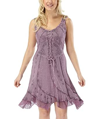 Joe Browns Damen Elegantes Besticktes Schnür-Kleid Lila (44)