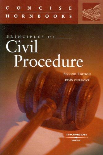 Principles of Civil Procedure Concise Hornbook