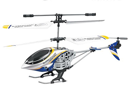 Dazzling Toys Remote Controlled Helicopter - 3.5 Channels for Accurate Flying - Alloy Design - Color Blue (Remote Helicopter Outdoor compare prices)