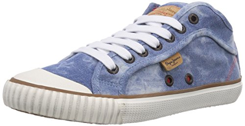 Pepe Jeans London INDUSTRY BASIC DENIM, Low-Top Sneaker donna, Blu (Blau (532SOHO BLUE)), 37
