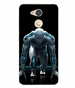 Case Cover Superman Printed Black Soft Back Cover For Gionee S6 Pro