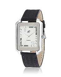 Yepme Men's Analog Watch - White/Black -- YPMWATCH3374