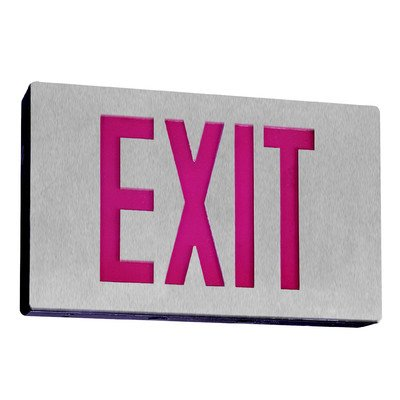 Royal Pacific RXL15RBA Single Face, Die-Cast Exit Sign, Brushed Aluminum with Red Letters