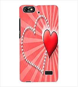 ColourCraft Love Hearts Design Back Case Cover for HUAWEI G PLAY MINI