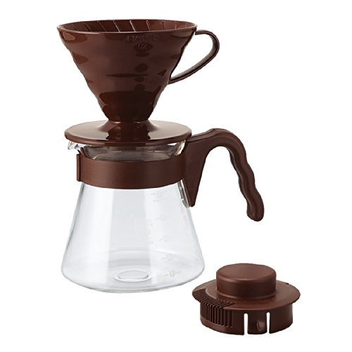 Hario V60 Coffee Sever Set, Chocolate