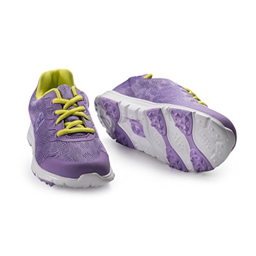 FJ Junior Girl's Enjoy Golf Shoes-Hybrid-Lavender-Size 5-Medium