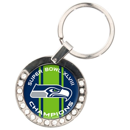 NFL Seattle Seahawks Super Bowl Champ Bling Key Chain at Amazon.com