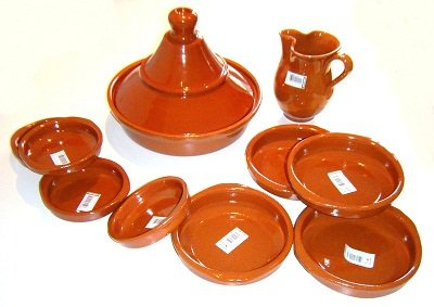 Terracotta Tagine And Tapas Set by Valdearcos