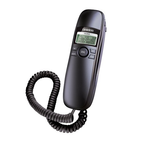 Uniden Black Slimline Corded Phone (Slim1260BK)