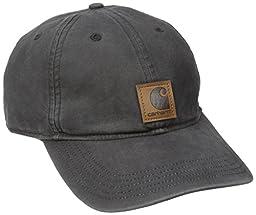 Carhartt Men\'s Medium Profile 100 Percent Cotton Odessa Force Cap, Black, One Size
