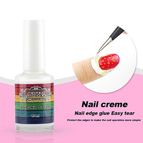 Perfect Summer 1pcs Blanc Peel Off Base Coat Ruban Nail Art Liquide Palissade Manucure 15ml