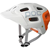 POC Trabec Race Helmet, White/Orange, Medium-Large/55-58