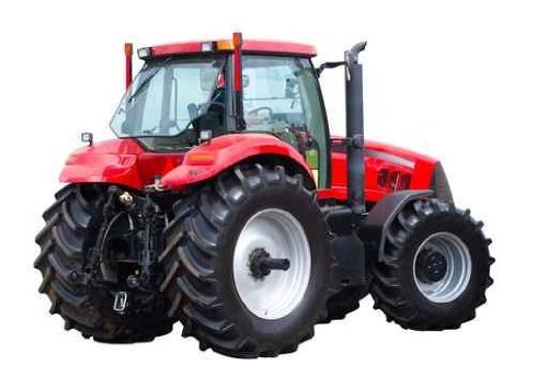 New Red Tractor Wall Decal - 18 Inches W X 12 Inches H - Peel And Stick Removable Graphic front-644623