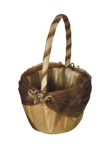 Weddingstar-Bronze-Elegance-Flower-Girl-Basket