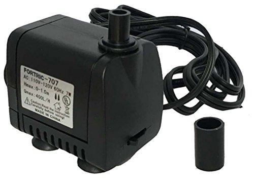 FORTRIC AC 110-120V 7W 100GPH Submersible Water Hydroponic Pump for House Garden Fountain Aquarium Tank Powerhead (Hot Water Tank For Houses compare prices)