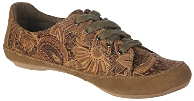 Cloud 9 Women's Gamaliel Taupe Multi/Natural Fabric Flat 6 M