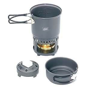 Esbit Set de cuisson + Brûleur à alcool/combustible solide 985 ml/470 ml