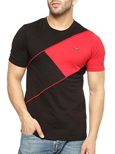Gritstones-Half-Sleeve-Round-Neck-T-Shirt-GSHSTSHT1317BLKRD