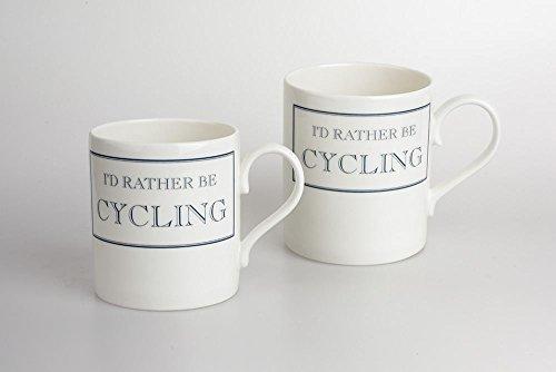 Stubbs Mugs I'D Rather Be Cycling Mug Bone China