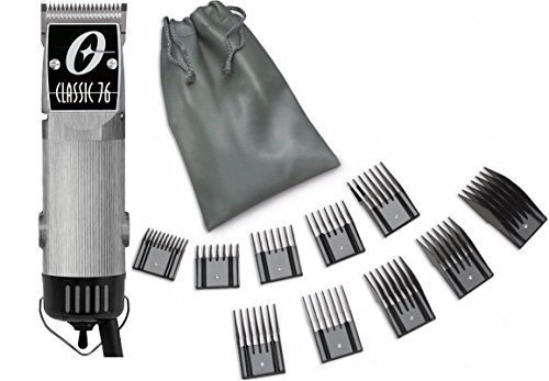 New Oster Classic 76 Brushed Aluminum Color Limited Edition Hair Clipper+10 PC Comb Set (Metal Blades For Oster 76 compare prices)