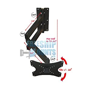 Extra Long Arm Mount For Tv Screen Sizes 10 37 Great For