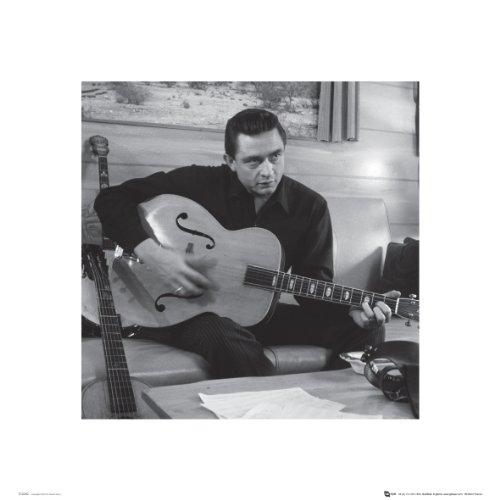 GB eye Ltd, Poster: Johnny Cash, Man in Black (con chitarra), 40 x 40 cm