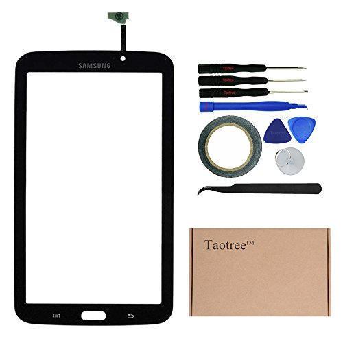 TaotreeTM Samsung Galaxy Tab 3 Screen Replacement Digitizer Touchscreen Panel Glass Len for Samsung Galaxy TAB 3 Sprint SM-T217S Tablet PC with Tools (Black)