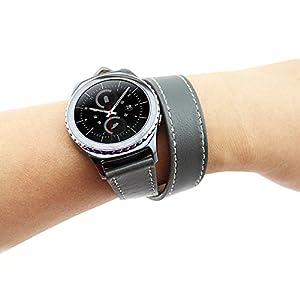 Fodlon® Banda de Reemplazo Pulsera Ajustable Correa de Reloj Pulsera de Acero Inoxidable Milanés para Samsung Gear S2 de Fodlon