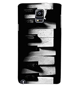 SAMSUNG GALAXY NOTE 3 OLD PIANO Back Cover by PRINTSWAG