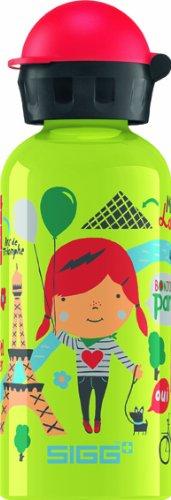 Sigg Travel Girl Paris Water Bottle, 0.4-Liter, Lime front-628575