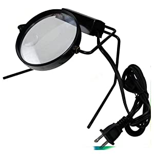 com illuminated magnifier on stand lamp desk magnifying glass lighted. Black Bedroom Furniture Sets. Home Design Ideas