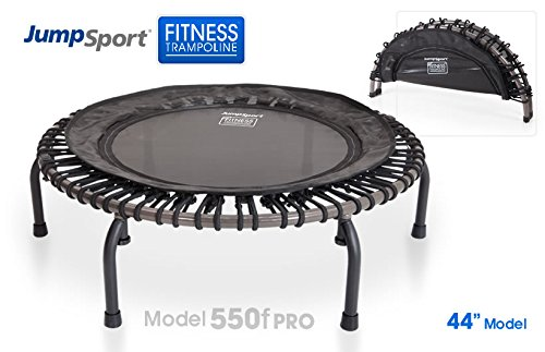 JumpSport Fitness Trampoline Model 550F PRO - Top Rated for Quality and Durability - Quietest Bounce - Included Music 4 Workouts DVD