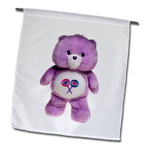 3Drose Fl_1034_1 Purple Care Bear Garden Flag, 12 By 18-Inch