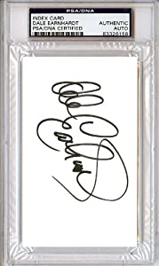Dale Earnhardt Autographed Hand Signed 3x5 Index Card PSA DNA #83326158 by Hall of Fame Memorabilia