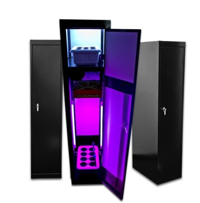 Grow Box LED SuperLocker 3.0 LED Grow Cabinet Hydroponics System Hydrponic Grow Box Cabinet Closet System (Stealth Grow Cabinet compare prices)