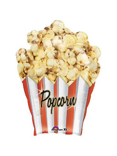 "XL 31"" Popcorn Mylar Foil Balloon Movie Night Circus Birthday Party"