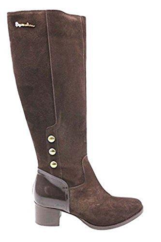 scarpe donna BRACCIALINI 36 stivali marrone camoscio pelle AN28-C