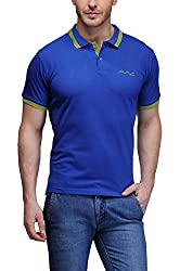 AWG All Weather Gear Men's Cotton T-Shirt (Blue, XXXX-Large)