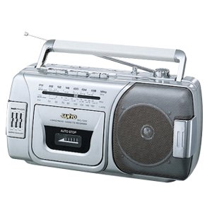 SANYO BIG-180K 4-Band Radio Cassette Recorder MW / SW1 / SW2 / FM with Graphic Equalizer and BASSXPANDER